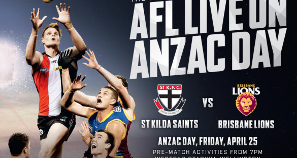 Tickets on sale for ANZAC Day Match