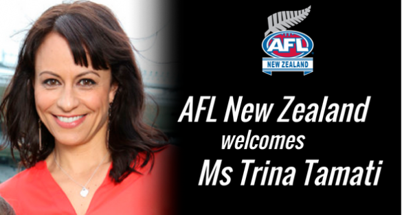 AFL New Zealand welcomes Ms Trina Tamati
