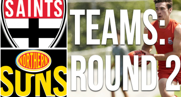 Round 2 Teams: Saints vs Suns