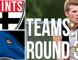 Round 3 Teams: Crows vs Saints