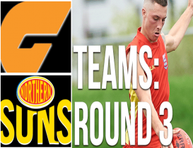 Round 3 Teams: Giants vs Suns