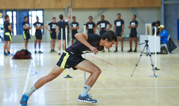 Ben Armstrong of Bay of Islands College, who set a new NZ record in the AFL Agility Test at the AFL New Zealand National Combine.
