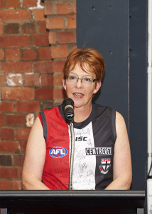 Mayor of Wellington Celia Wade Brown at the AFL New Zealand High Performance Awards, held in Wellington on April 24th 2014.