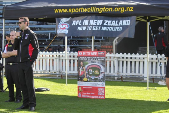 Sport Wellington has provided support and resources for AFL New Zealand events
