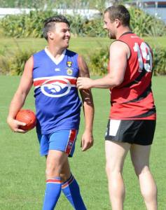 James Terry in his 50th game for the Bulldogs.
