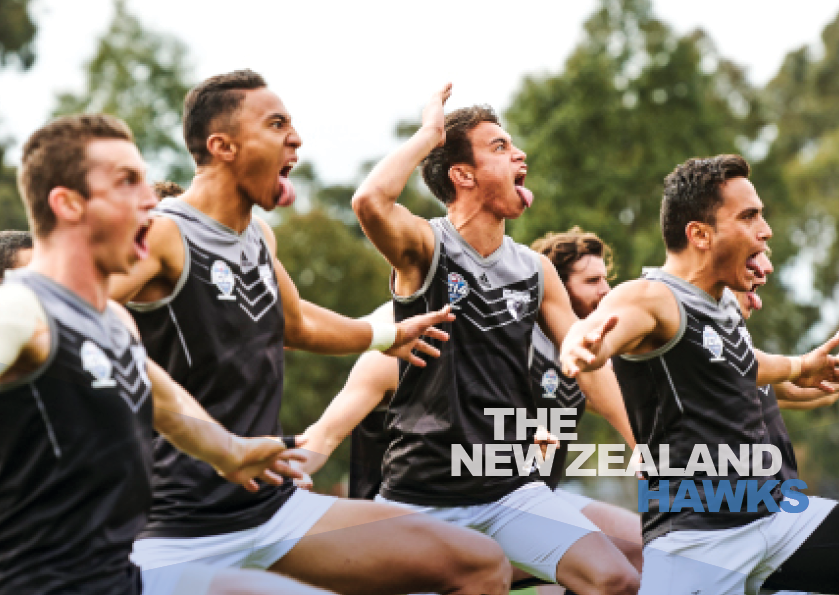 NZ Hawks haka photo