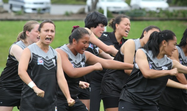 The NZ Kahu performed a Haka specifically written for the team for the first time before the match.